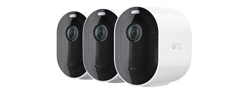 Arlo Pro4 Spotlight WLAN Überwachungskameras | Kabellos, Innen / Aussen, 2K, Farbnachtsicht, Bewegungsmelder,...