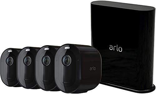 Arlo Pro3 WLAN Überwachungskamera aussen, 2K UHD, 4er Set, kabellos, Bewegungsmelder, Farbnachtsicht, 160°...