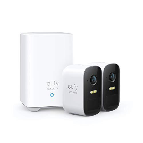 eufy Security eufyCam 2C 2+1, kabellose Überwachungskamera für draußen, 180 Tage Akkuleistung, HD 1080p,...