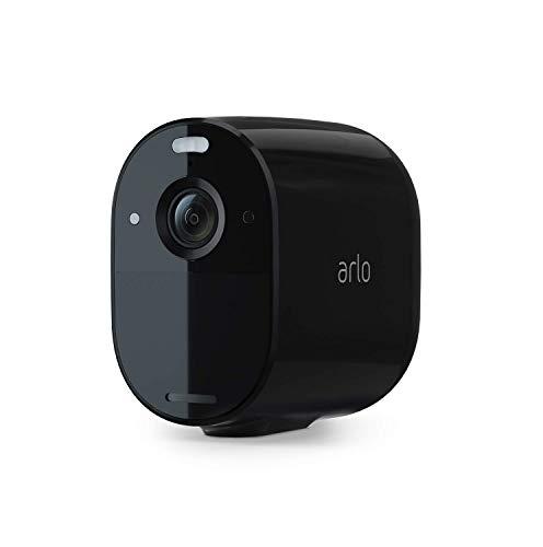 Arlo Essential Spotlight WLAN Überwachungskamera | Kabellos, Innen / Aussen, 1080p, Farbnachtsicht,...
