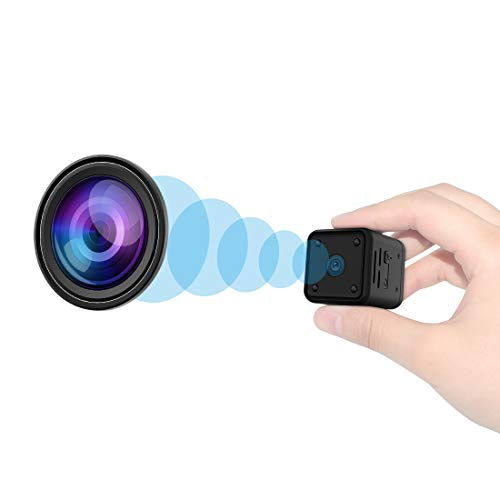 Mini Kamera, 1080P HD Kleine Überwachungskamera mit Bewegungserkennung und Nachtsicht, Tragbare Mikro...