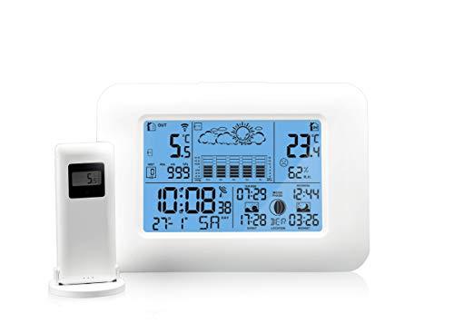 Oritronic Wetterstation Funk mit Außensensor,Innen-und Außenthermometer,Digitai Hygrometer für innen,...
