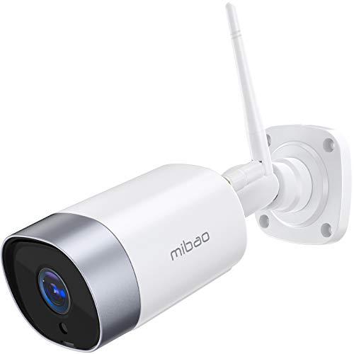 mibao Überwachungskamera Aussen, WLAN IP Kamera 1080P WiFi Kamera mit Nachtsicht, IP66 wasserdichte, Zwei...