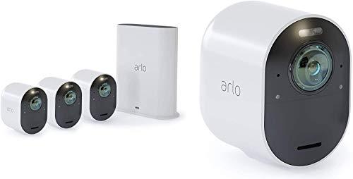 Arlo Ultra WLAN Überwachungskamera 4K & Alarmanlage, Innen / Aussen, kabellos, Bewegungsmelder, Smart Home,...
