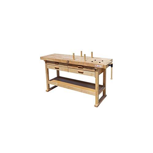 Holzmann – Werkbank Holz 1625 x 610mm, 4 Schubladen – WB162L – Holzmann