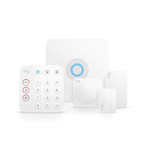 Ring Alarm 5-teiliges Kit (2. Gen.) von Amazon, brandneu – Heimsicherheitssystem mit optionaler...