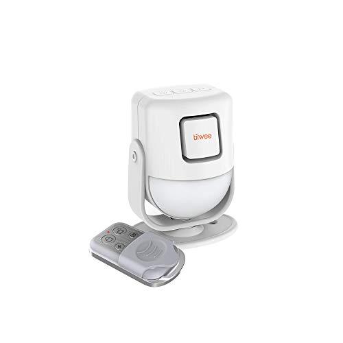 tiiwee X4 PIR Bewegungsmelder Alarm mit Fernbedienung - 125 dB - Erweiterbar - Alarmanlage Sicherheitstechnik...