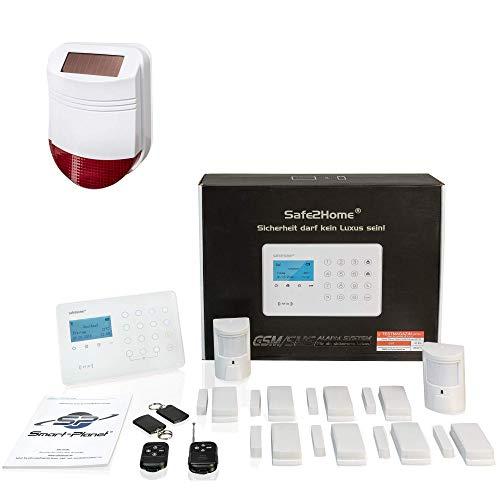 Safe2Home® Funk Alarmanlage Großes Set SP210 mit Sabotageschutz u Lichtsteuerung - deutsch - GSM WiFi...