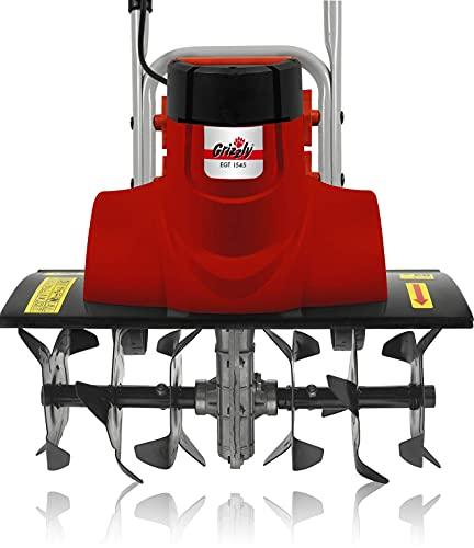 Grizzly Tools Elektro Motorhacke, 45 cm Arbeitsbreite, 2 Breiten einstellbar, 18 cm Tiefe, 1500 W