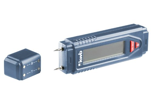 kwb Feuchtigkeitsmessgerät, perfekt als Holz-Feuchtemessgerät oder als Messgerät für Mauerwerk, inkl. 9 V...