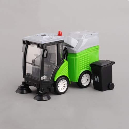 Xolye Legierung Garbage Sweeper Modell Spielzeugauto 3 Farben Kinder Kehrmaschine Spielzeug mit Trash Can...