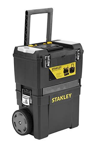 Stanley Rollende Werkstatt (47,3 x 30,2 x 62,7 cm, zwei separat verwendbare Werkzeugboxen, robuster...