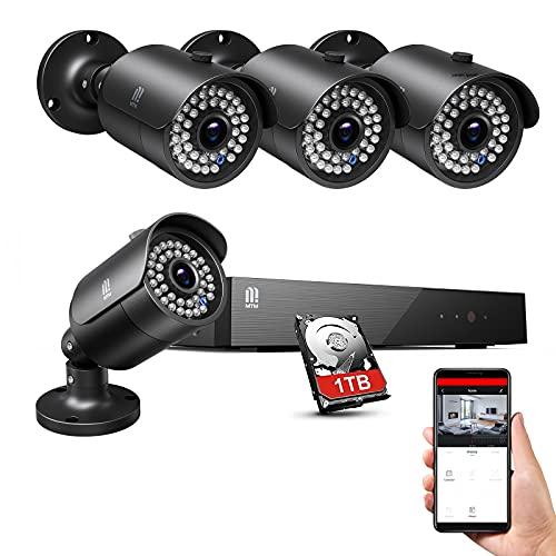 5MP Überwachungskamera Aussen Set,8CH H.265+ 8CH Videoüberwachung mit 4X 5MP Überwachungskamera 1TB...