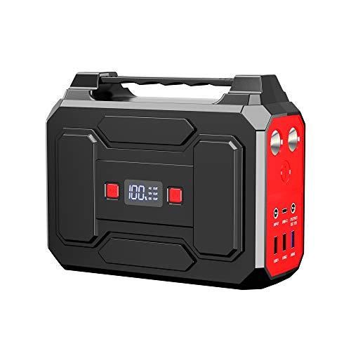 Powkey Tragbare Powerstation 99Wh/27000mAh 100W Solar Generatoren mit AC/USB/DC Ausgabe, Eingebauter...