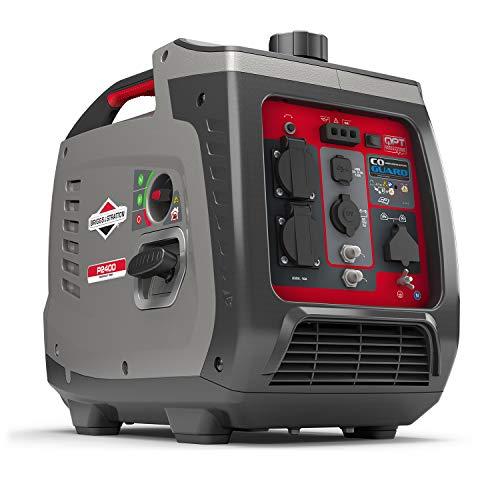 Briggs & Stratton 030800 Benzin Inverter Stromerzeuger Generator der PowerSmart Serie P2400 mit 2400 Watt/1800...