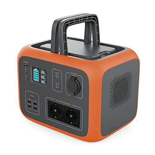 500Wh Powerstation mit 2 x 220V AC, 2 x 12V DC, 4 x USB, PD und kabelloses Laden, Solar Generator Mobiler...