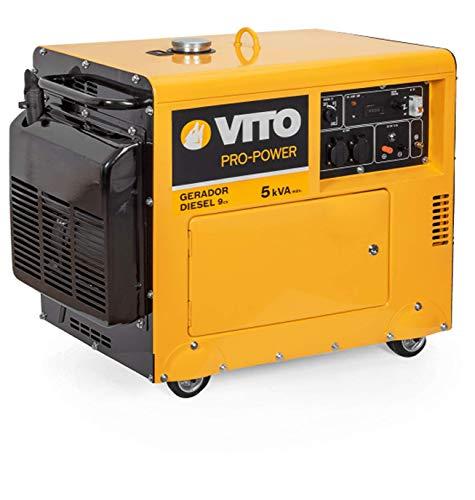VITO Pro Power Benzin AVR Stromerzeuger 230V - 8kVA 15PS 6500W E-Starter 29.5A Profi 4 Takt Motor Generator...
