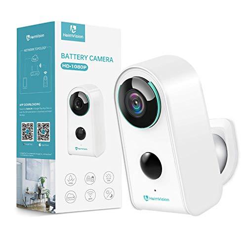 HeimVision HMD3 Überwachungskamera, 1080P Akku Kabellose WLAN Kamera, 2,4GHz WiFi, PIR Bewegungsmelder,...