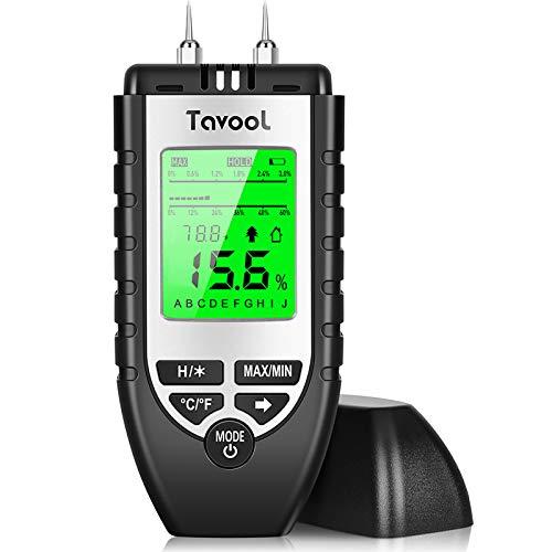 Feuchtigkeitsmessgerät Feuchtigkeitsmesser - Feuchtigkeits-Detector Feuchtigkeitsdetektor mit Batterie und...