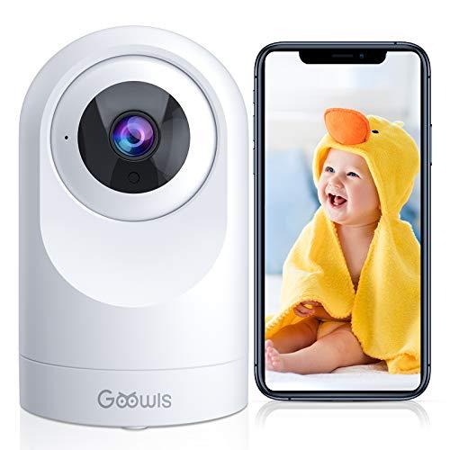 WLAN IP Kamera Goowls 1080P HD Überwachungskamera Innen 360°Schwenkbar Nachtsicht Bewegungserkennung...