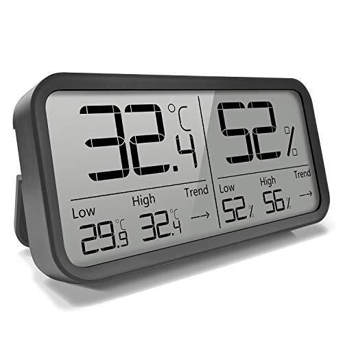 AngLink Thermometer Digital Hygrometer Innen mit 16:9 Display Zimmerthermometer Luftfeuchtigkeitsmessgerät...
