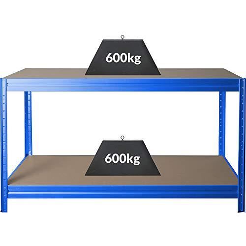 Höhenverstellbare Werkbank   HxBxT 870 x 1600 x 600 mm   Tiefe 60 cm   Traglast 600 kg   Werktisch...