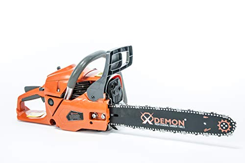 Benzin Motorsäge Demon Motorkettensäge Kettensäge Länge des Schwertes: 40cm, Leistung: 4,35 PS Säge mit...