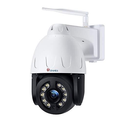 Ctronics 5MP PTZ Überwachungskamera Aussen WLAN, 4X Optischer Zoom Dome WiFi IP Kamera Outdoor, Mensch...