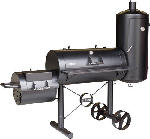 Smoker-Grill 'Kiona' von El Fuego® Holzkohlegrill BBQ Barbecue Grill Smoker (000312)