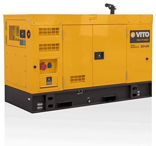 VITO Silent Diesel AVR Generator 16000W 20kVA ATS für automatisches Netzausfall-Startsystem 400V AC 50Hz /...