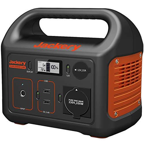 Jackery Tragbare Powerstation Explorer 240 - Mobiler Stromspeicher & Solar Generator mit 230V Steckdose + USB...