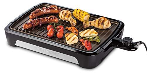 George Foreman Grill Smokeless Tischgrill, raucharmer Indoor BBQ Grill inkl. spülmaschinenfesten Grillrost,...