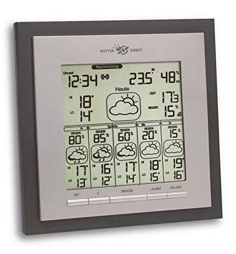 TFA Dostmann Eos Max Wetterstation, für Innen und Außen mit Funk Außensensor, 6 Tage Vorhersage von...