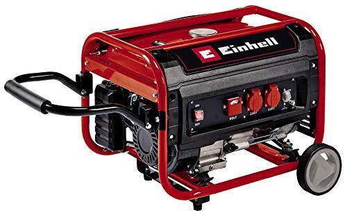 Einhell Stromerzeuger (Benzin) TC-PG 35/E5 (max. 3.100 W, emissionsarmer 4-Takt-Motor, 2x 230 V-Steckdosen, 15...