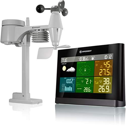 Bresser Wetterstation Funk mit Außensensor Wetter Center mit 5-in-1 Außensensor (Temperatur, Luftdruck,...