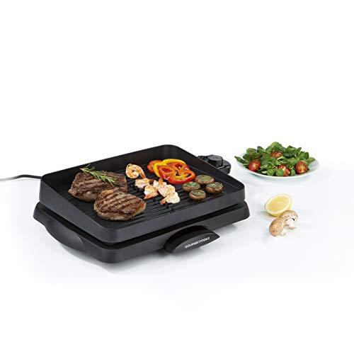 GOURMETmaxx elektrischer Tischgrill mit Aluguss Grillfläche   Rauchfrei geeignet für Innen- und...