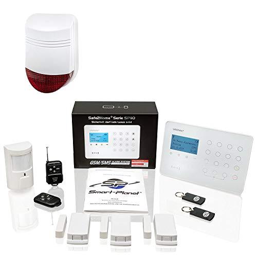 Safe2Home® Funk Alarmanlagen Set SP110 mit Sabotageschutz – deutschsprachiges GSM Alarmsystem mit SMS...