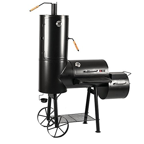 Mayer Barbecue RAUCHA Smoker MS-300 Pro Holzkohlegrill Räucherofen Smoker Grill, 2 Deckelthermometer, Massiv...