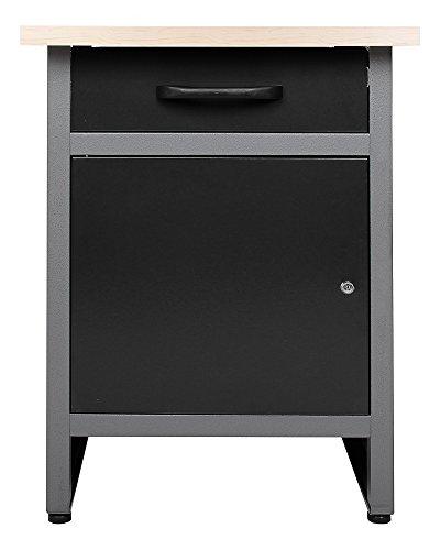 Ondis24 Werkbank Werktisch Werkstatteinrichtung mit Schublade und Tür abschließbar 60 x 60 cm Arbeitshöhe...