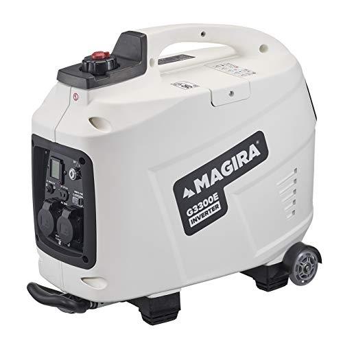 MAGIRA 3,3kW Stromerzeuger-Inverter mit E-Start, 3300W Digital Benzin Aggregat leise in 7 Varianten: 0,8kW -...