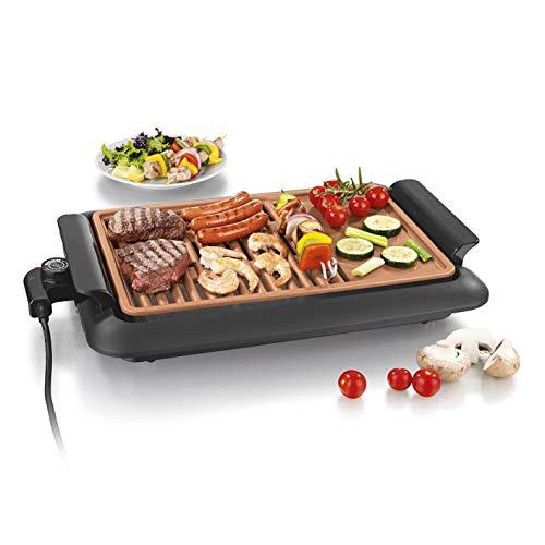 GOURMETmaxx rauchfreier elektrischer Tischgrill   2 Grillflächen für optimale Ergebnisse, geeignet für...