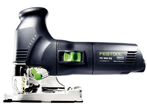 Festool Pendelhubstichsäge inkl. 2 Sägeblätter PS 300 EQ-PLUS Trion (230V, Schnitttife Holz 120mm,...