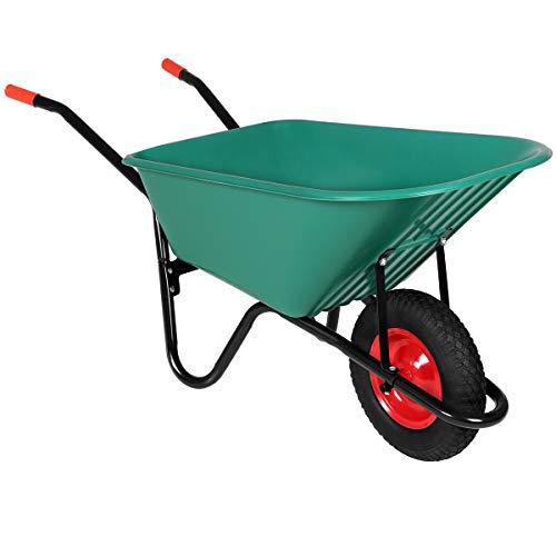 Gardebruk Schubkarre 100 Liter Bauschubkarre Gartenschubkarre bis 150kg Belastbarkeit Luftreifen stabile...