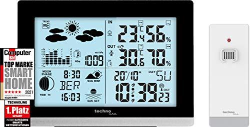 Technoline edel und modern die WS6762 moderne Wetterstation, schwarz Hochglanz