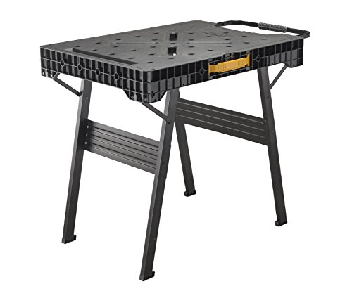 Stanley FatMax klappbare Werkbank (bis 455kg belastbar, mit Metallbeinen für höchste Stabilität, große...