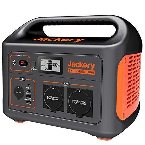 Jackery Tragbare Powerstation Explorer 1000 - 1002 Wh AKKU Solar Generator & Mobiler Stromspeicher mit 230V...
