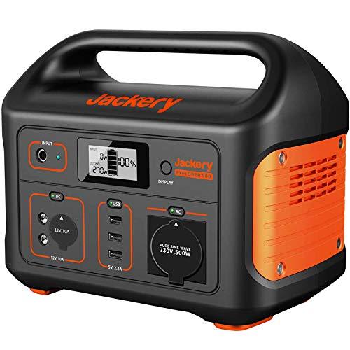 Jackery Tragbare Powerstation Explorer 500 - 518 Wh Batterie Mobiler Stromspeicher & Solar Generator mit 230V...