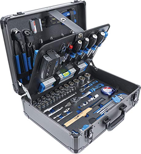 BGS 15501 | Werkzeugkoffer | 149-tlg. | Profi-Werkzeug | Alu-Koffer | gefüllt | abschließbar | Werkzeugkiste...