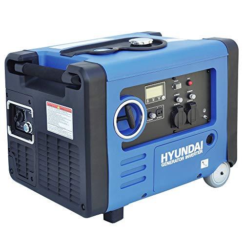 HYUNDAI Inverter-Generator HY4500SEi D (Inverter Stromerzeuger, tragbarer Benzin Generator mit 4.0 kW...