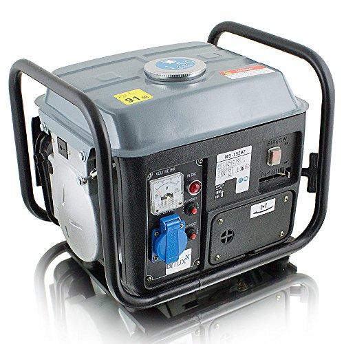 BITUXX® 850W Benzin Notstromaggregat Stromgenerator Stromerzeuger Stromaggregat Notstrom Generator